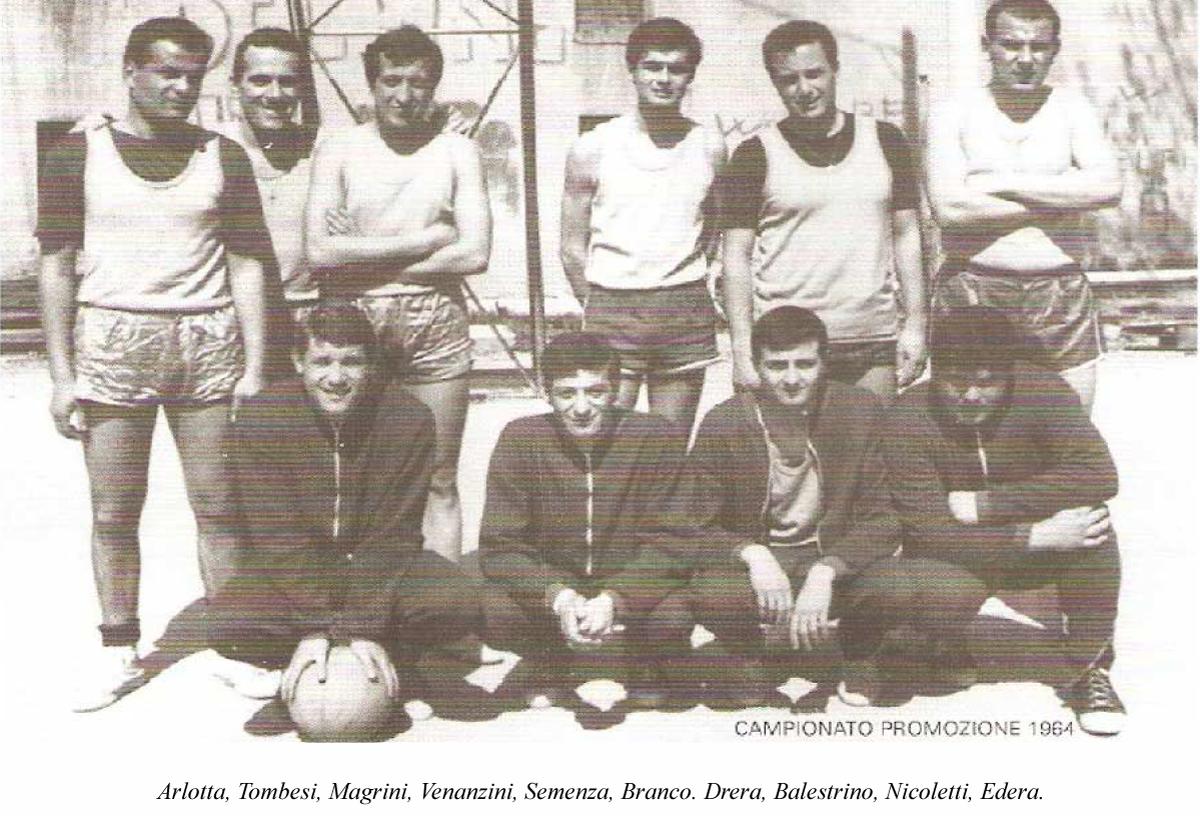 La prima squadra Delfino